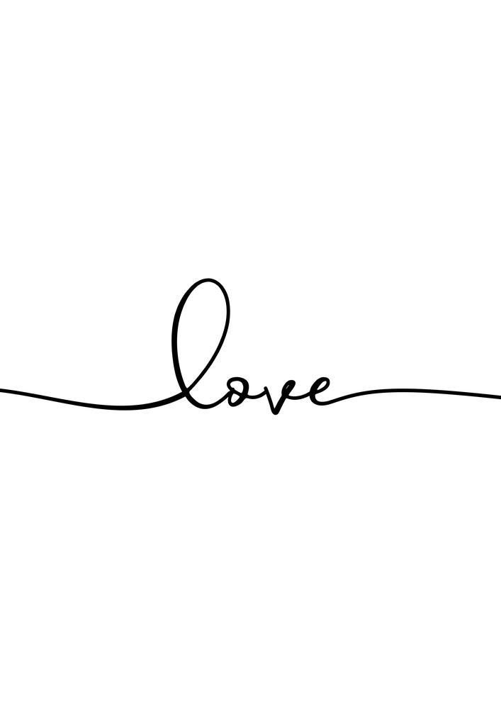Plakat - Love (S040055SA4)