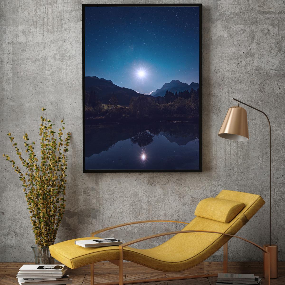 Plakat - Pun mjesec nad jezerom (S040025SA4)