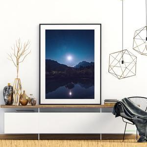 Plakát - Úplněk nad jezerem (S040025SA4)