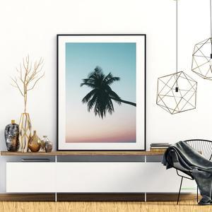 Plagát - Palma prí západe slnka (S040026SA4)