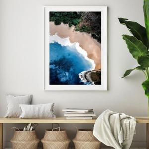Plakat - Ocean, pesek, pečina (S040027SA4)