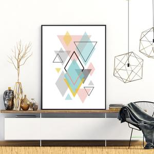 Poster - Pastel Triangle (S040072SA4)