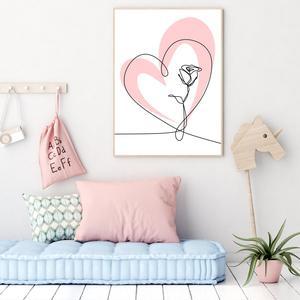 Poster - Heart & Rose (S040074SA4)