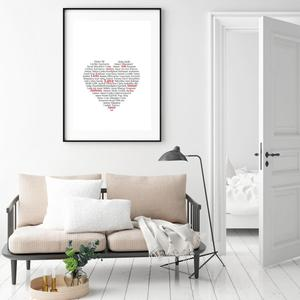 Poszter - Love Heart (S040411SA4)